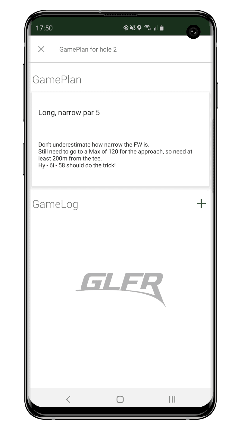 GLFR - Playing - GamePlan